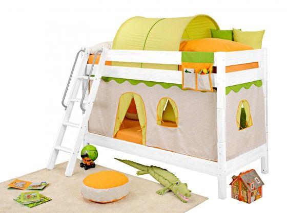 Kinderbett dschungel  Günstiges Dschungel-Etagenbett aus Echtholz für eine farbenfrohe ...