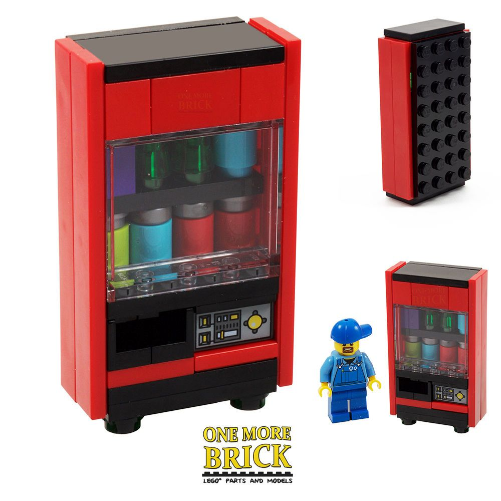 CUSTOM NEW control panel Drinks machine soda cans LEGO Vending Machine