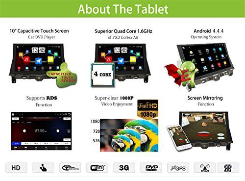 10 Inch Android 4 4 4 Touch Screen Car Stereo Video Player For Honda Accord 2008 2009 2010 2011 2012 With Bluet Touch Screen Car Stereo Car Stereo Touch Screen
