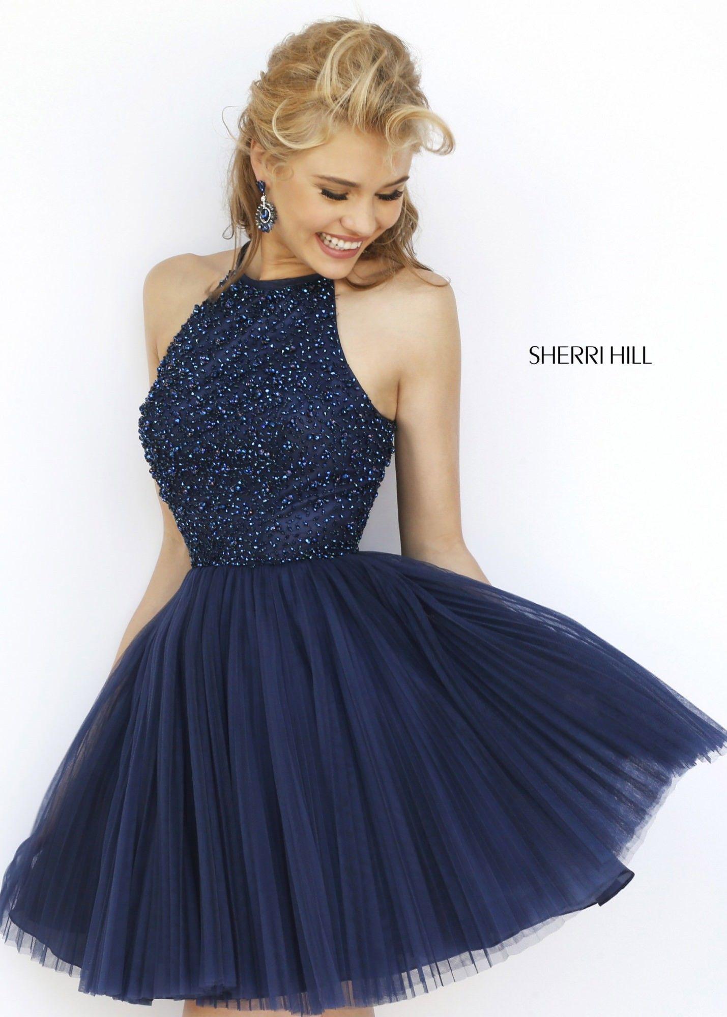 Sherri Hill 32335 Pleated A-Line Cocktail Dress | Mali and I like ...