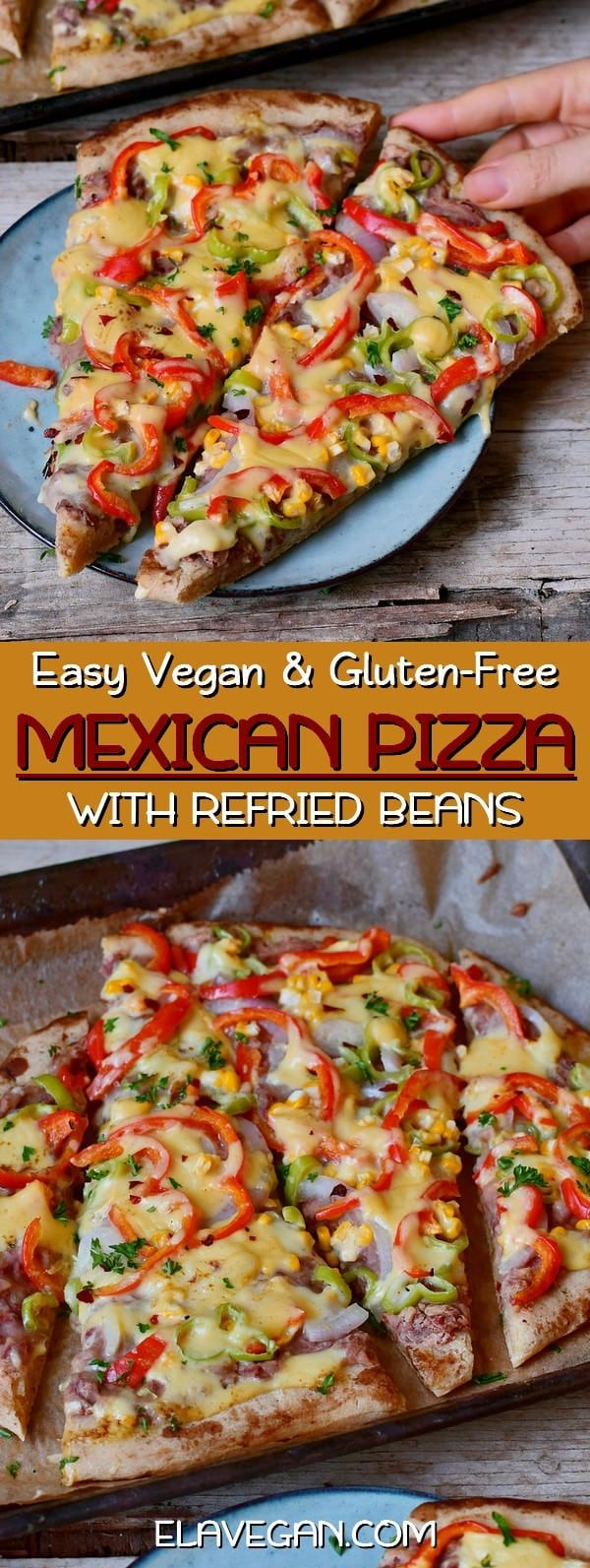 Photo of Loaded Mexican Pizza (Vegan)