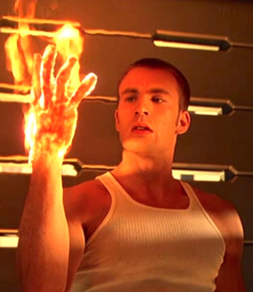 Chris Evans as Johnny Storm / Human Torch - Fantastic Four (2005)