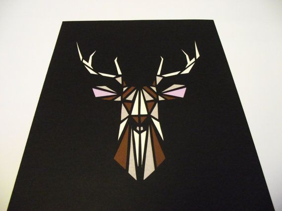 A4 Hand-Cut Stag Paper-Cut by ZaraOliviaNoble on Etsy