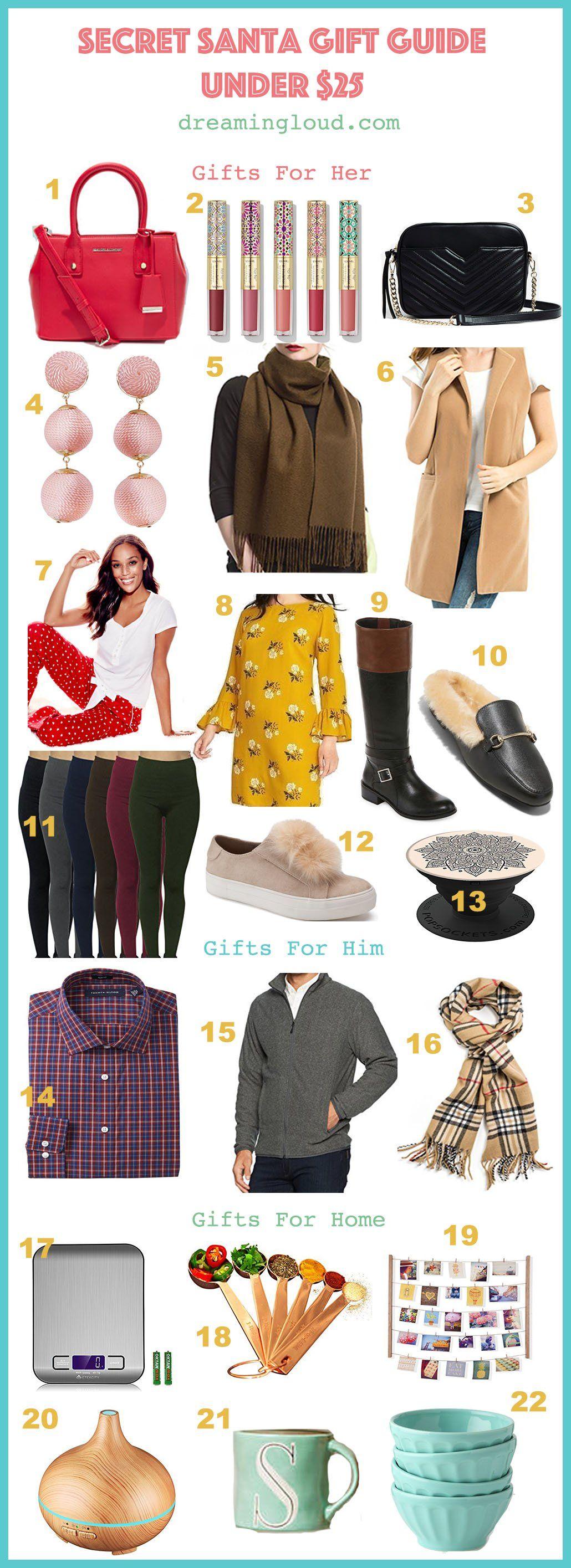 Last Minute Secret Santa Gift Guide Under $25 | Secret ...