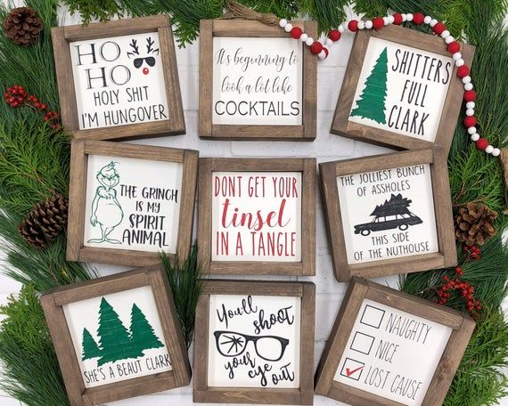 Tiered Tray Decor | Christmas Vacation  | A Christmas Story | The Grinch Decor | Christmas Mantle De
