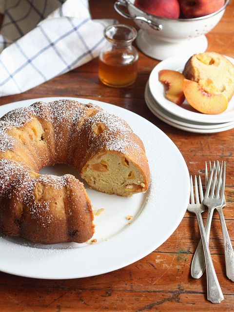 Peach Maple Bundt Cake Completely Delicious Recipe Maple Syrup Recipes Peach Recipe How Sweet Eats