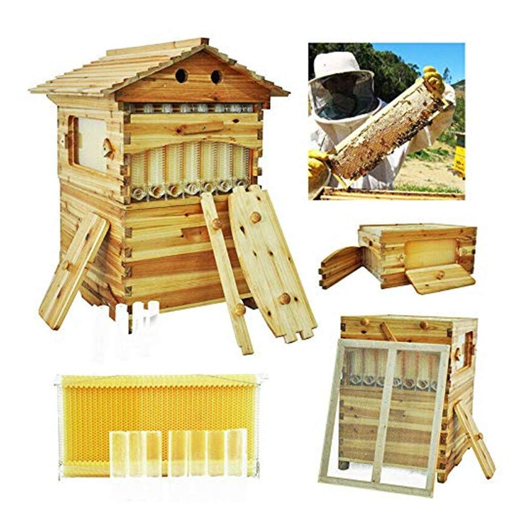 Deluxe Bee Hive House Frame beekeeping Kit Beehive Frames Wooden House Brood Box