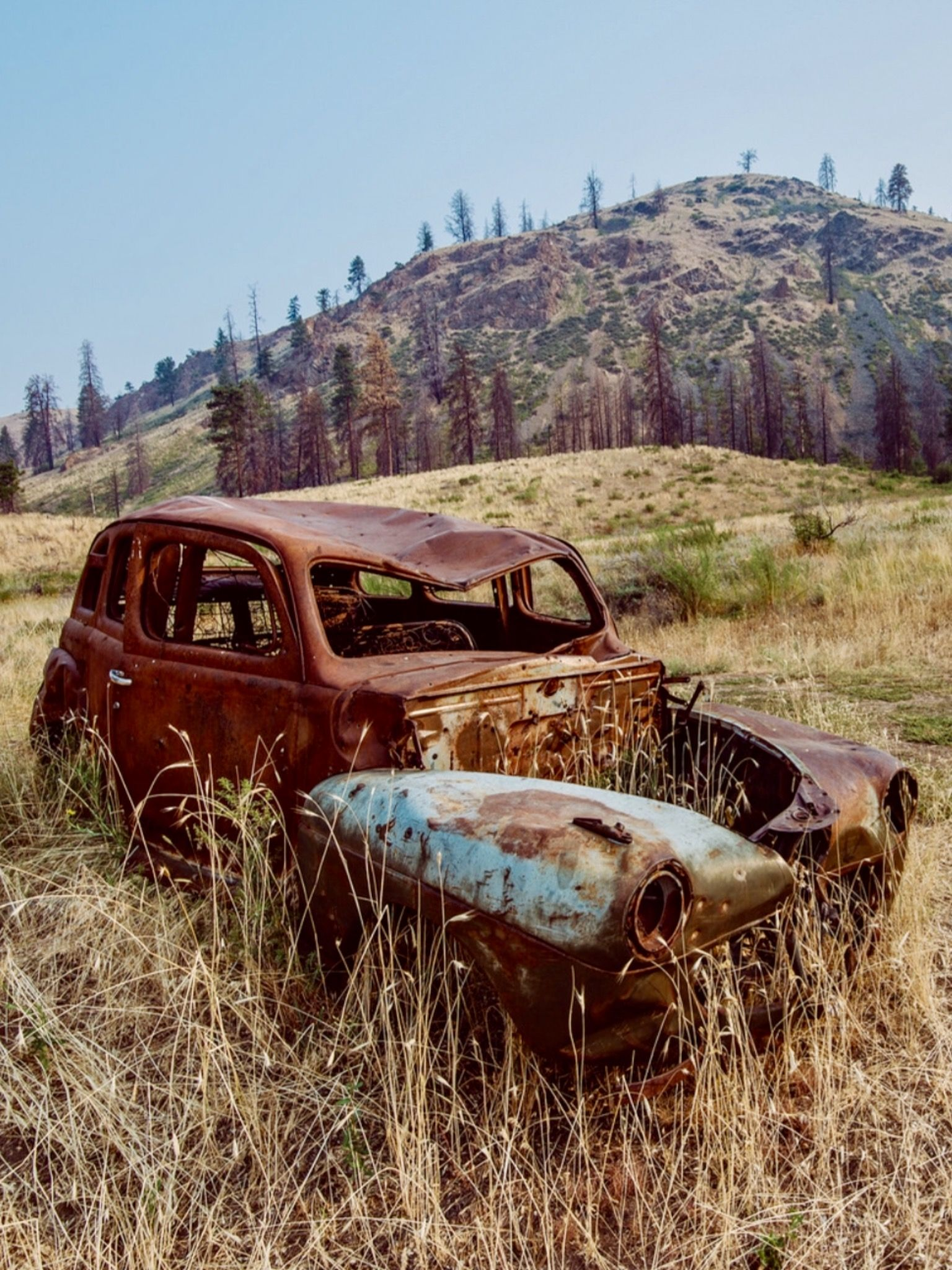 Rusty Car Okanogan County Washington Source Facebook Abandoned Cars