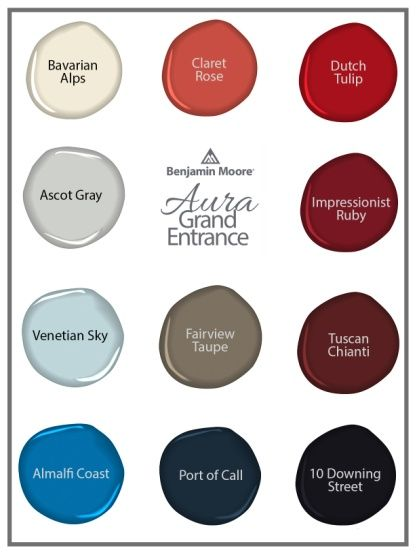 Benjamin Moore Grand Entrance Paint Colors