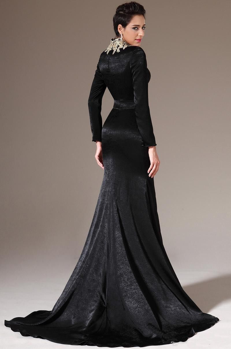Few things are as covetable and as versatile as a long black velvet