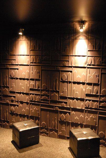 Draperiet på Høvik i Bærum har mange flotte tapeter fra Élitis. - 3D effect wallpaper by Elitis