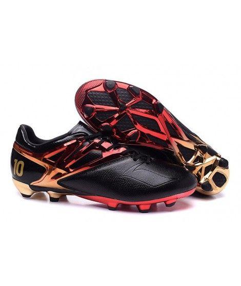 quality design 3bfb0 ed25c Adidas Messi 15.1 FG FODBOLDSTØVLE BLØDT UNDERLAG fodboldstøvler sort rød  guld