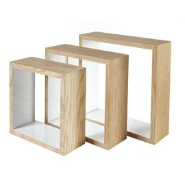 Lot De 3 Cubes Bois Lima Cube Rangement Rangement Mural Cube En Bois