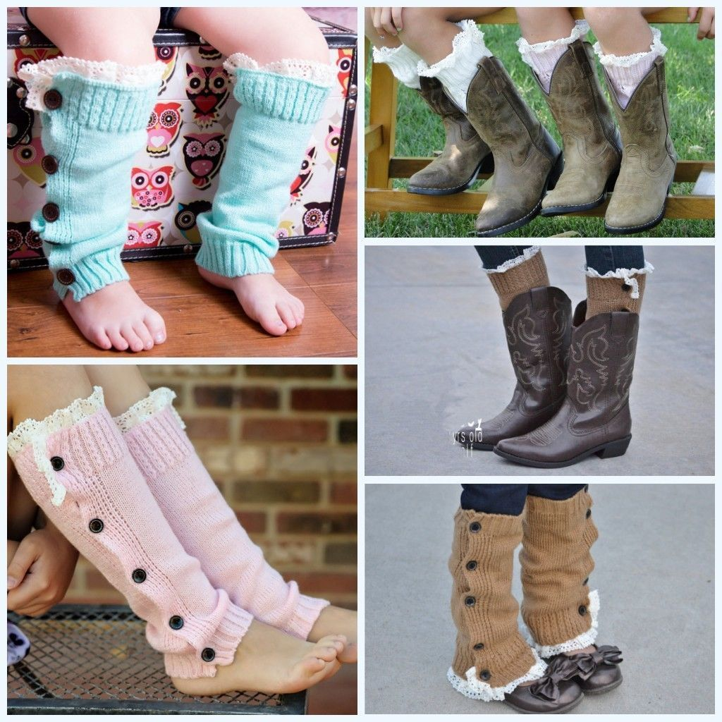 d9c497e7e Buy Warm Kids Girls Trendy Knitted Button Lace Leg Warmers Trim Boot Cuffs  Socks at Wish - Shopping Made Fun