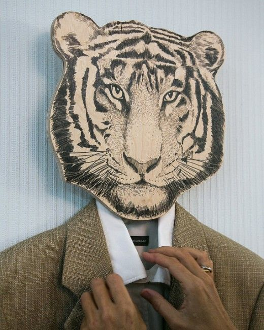 Hook with a tiger by Article Design Atelier    fun for a boy's room to get them to set out their clothes the night before