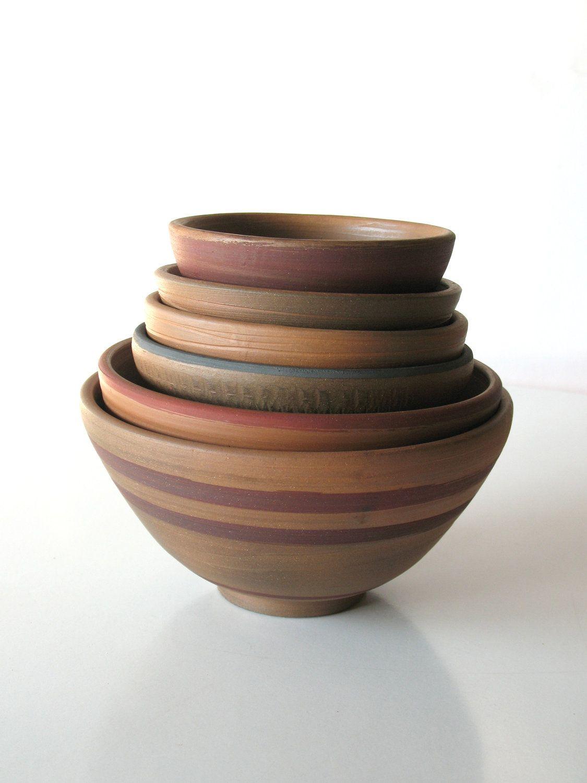 pottery bowl wheel thrown bowl ethnic ceramics tribal home