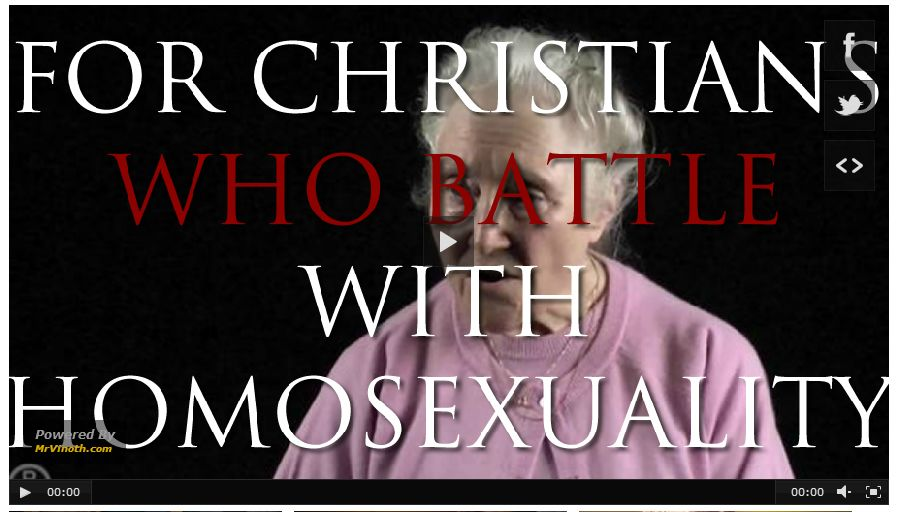 Struggling with homosexuality in christianity