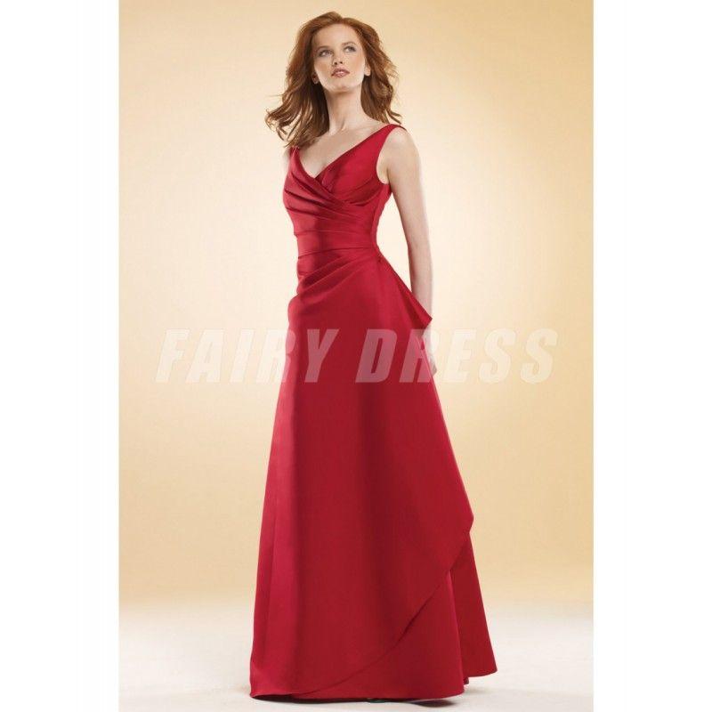 Robe satin rouge bordeaux