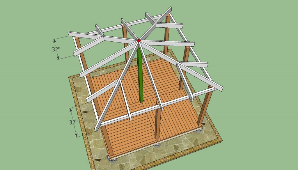 Wooden Gazebo Plans Howtospecialist How To Build Step By Step Diy Plans Gazebo Plans Wooden Gazebo Gazebo Roof