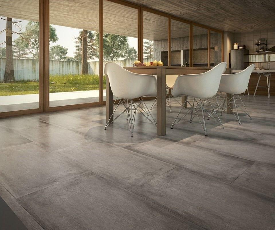 Porcelanato cemento san pietro 52x105 1ra rectificado for Piso cemento pulido blanco