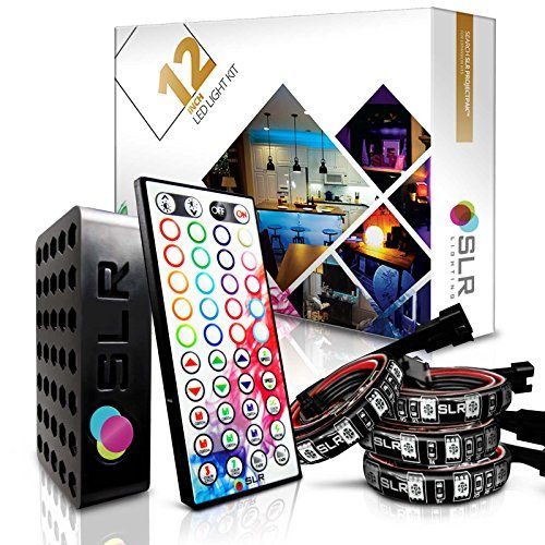 4pc Multicolor Rgb Led Strip Kit 12inch Precut Accent Light Strips For Tv Home Theater Backlight And Kitchen Under Cabinet Ligh Kitchen Under Cabinet Lighting Decorating With Christmas Lights Under Cabinet