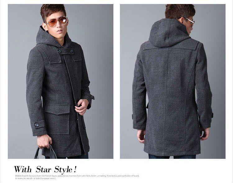 451332f2314 Details about Hot Winter Men's Slim Woolen Trench Coat Windbreaker ...