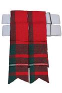 Red MacGregor Tartan Kilt Flashes | Price: £10.06