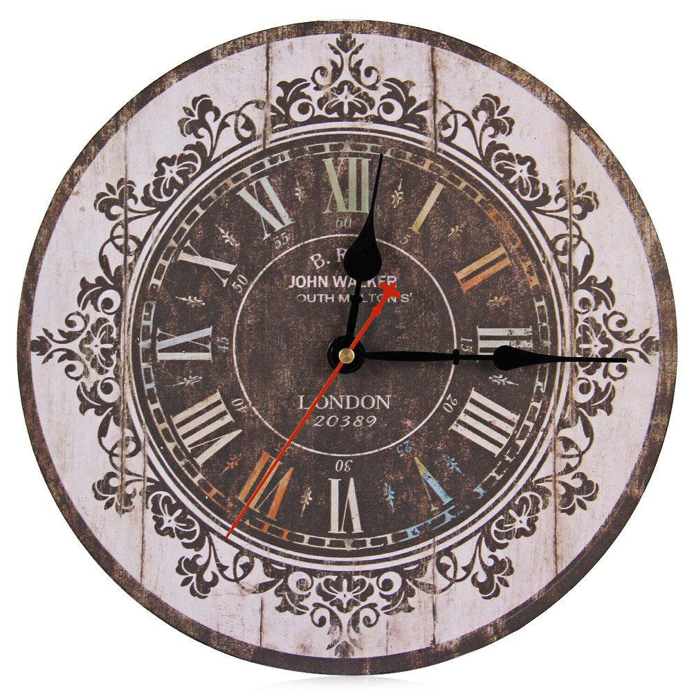 Silent wall clocks for sale new arrival designer silent classic retro analog multi color wood amipublicfo Image collections