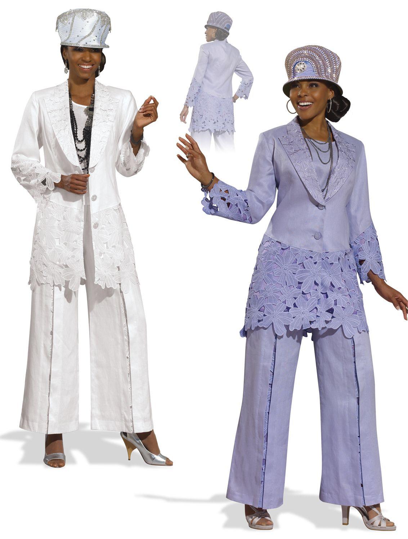 Ladies Linen Pant Suit by Donna Vinci 11296 $219.00 | BEAUTIFUL ...
