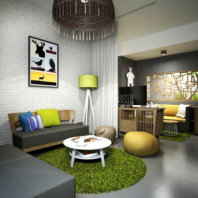 Desain Rumah Tropis Modern Minimalis Gaya Resort Atau Villa