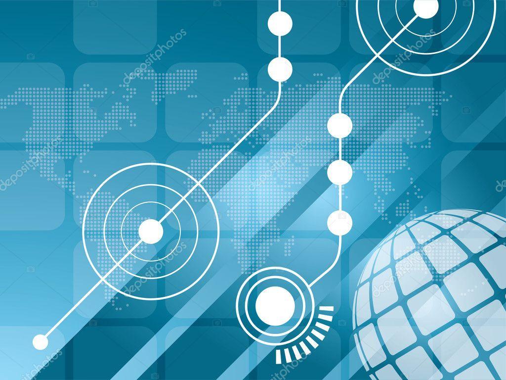 Technology background vector — Stock Vector © cifotart