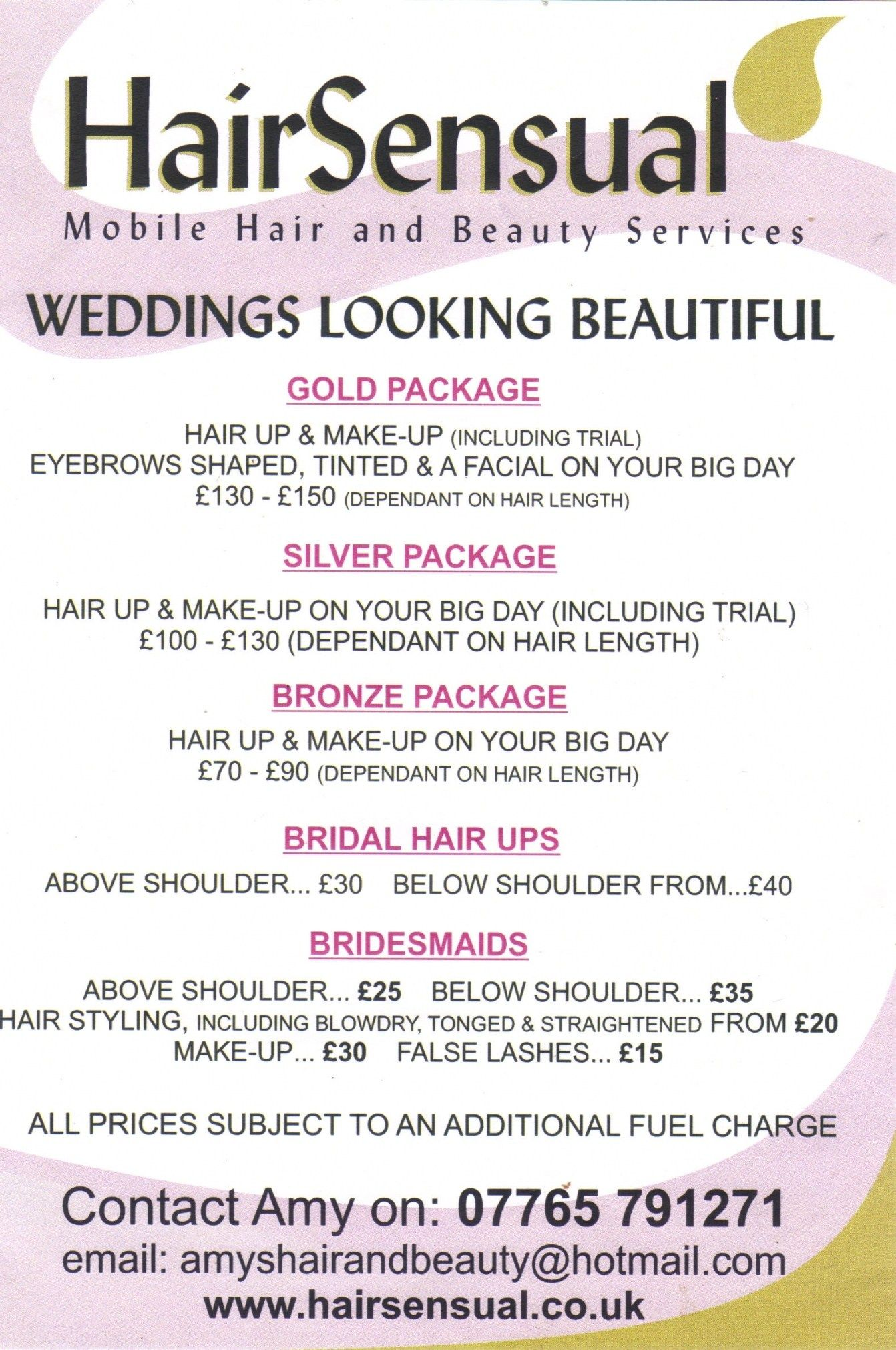 Wedding Hair And Makeup Price List