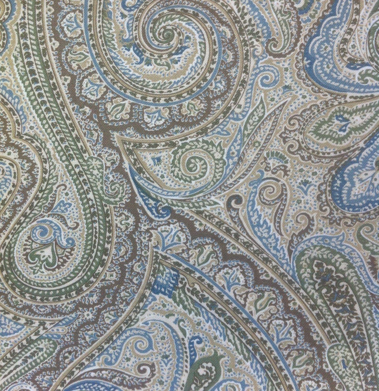 Amazon.com   Lauren By Ralph Lauren Fenton Paisley Sage 70 In X 72 In ·  Fabric Shower CurtainsCurtain ...