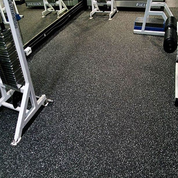 Black Rubber Sheet Flooring With White Epdm For Gyms Gym