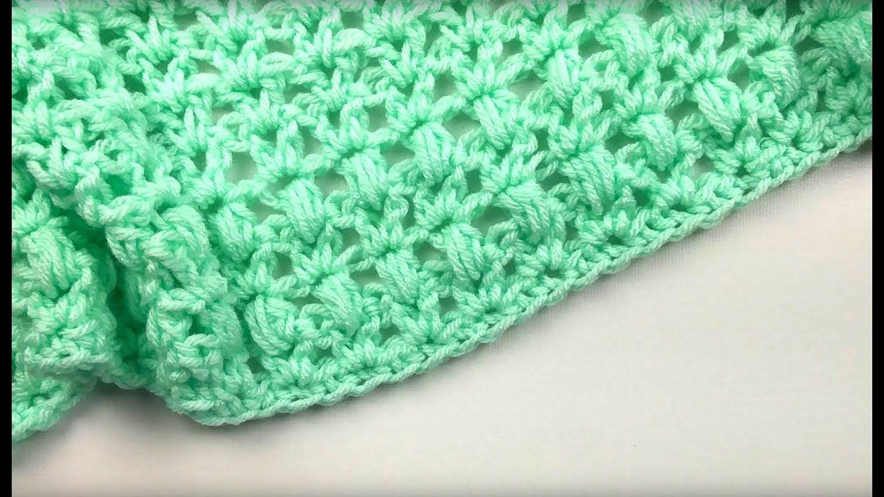 One Skein Mini Crochet Blanket Pattern - YouTube | Crocheted ...
