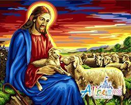 DR 004 – Jesus and The Sheeps Rp 227.000,-  Canvas size: 40 x 50 Packaging size: 41 x 51 x 3,5 cm (setara dengan 2 kg)  ALICE painting kit sudah termasuk - Kanvas pattern lukisan yg dibuat dari high grade cotton dengan tekstur halus. - Cat pigment warna yg ramah lingkungan, tidak beracun dan tidak cepat pudar. - Beberapa kuas nylon. - Kertas manual kode warna  Email: jjbigstore@yahoo.com Path: Silvblue Shop Instagram: @silvblue Line: silvblue SMS: 0818 0832 9022 WhatsApp 0896-2860-9094