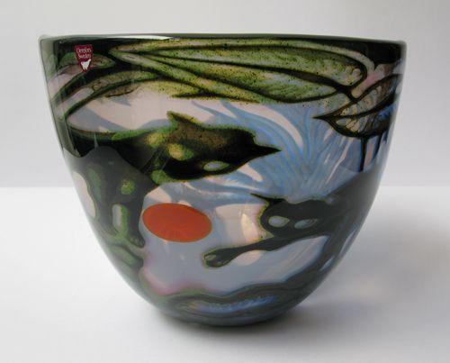Eva Englund (Swedish, 1937-1998), Orrefors, Graal Glass Vase.