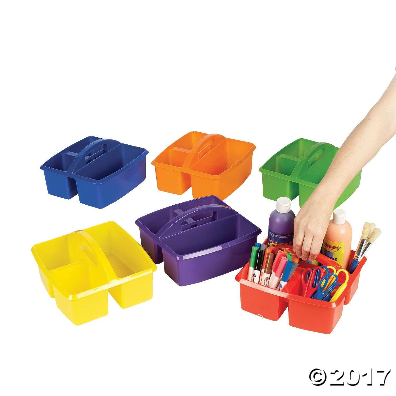 3 Compartment Classroom Storage Caddies | Classroom organization