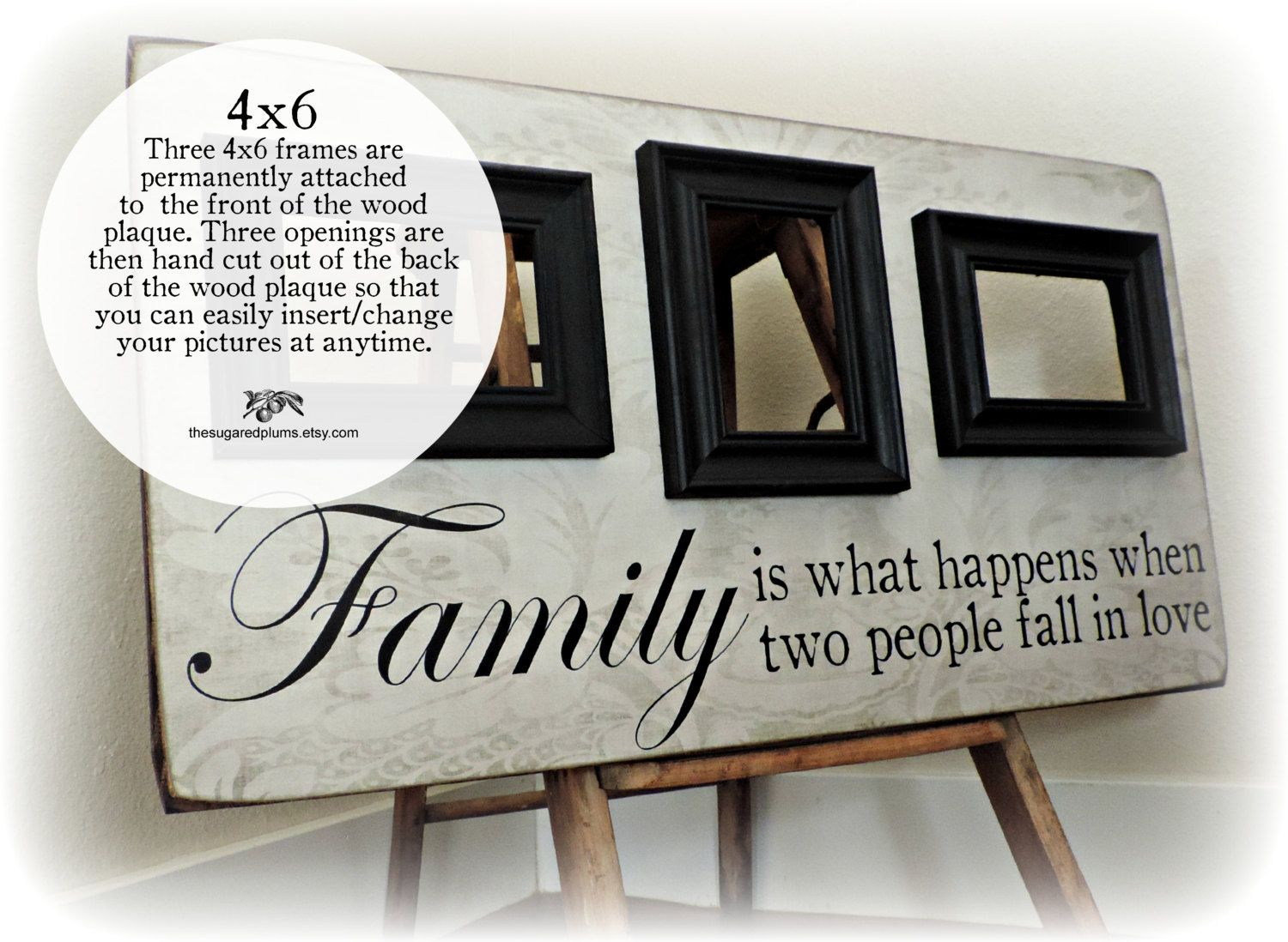Personalized Picture Frame, Family Name Sign 16x30 Parents Thank You ...