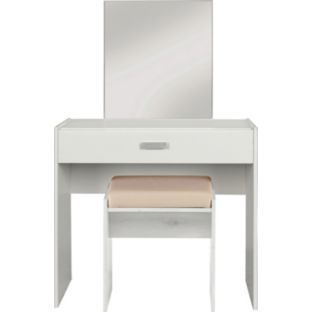 Buy Capella Dressing Table Stool And Mirror Soft White At Argos - White dressing table argos
