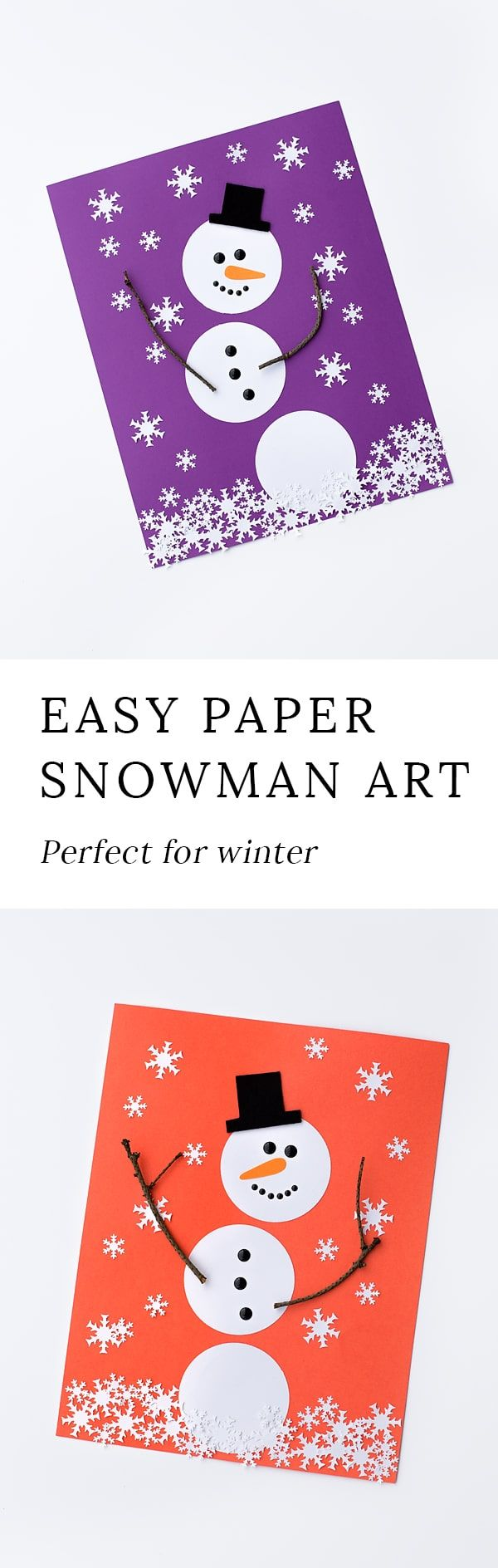 Winter is the perfect season for snowman crafts! Whether kids are learning about snow and snowflakes or simply enjoying a winter craft at home, this open-ended paper snowman craft is a fun way to extend your winter unit. #wintercrafts #snowmancrafts #kidscrafts #papercrafts #teacherspayteachers via @https://www.pinterest.com/fireflymudpie/