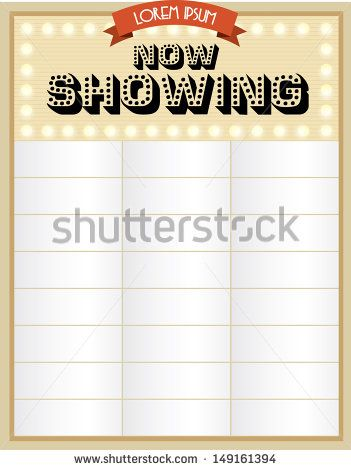 Now Showing Cinema Broadway Neon Sign Template Vector Illustration