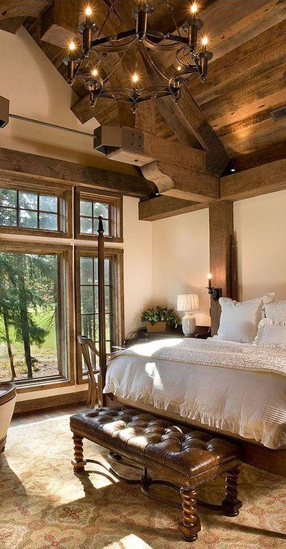 Best Rustic Bedrooms In 2020 Log Home Bedroom Rustic Master 400 x 300