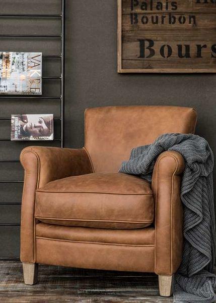 Ib Laursen Vintage Sessel Kuhleder Cognac