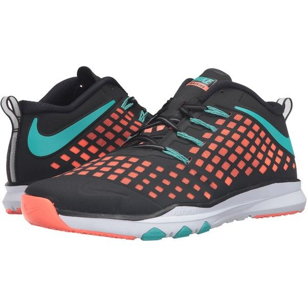 Nike Train Quick Athletic Shoe Black/Bright Mango/Hyper Jade 10
