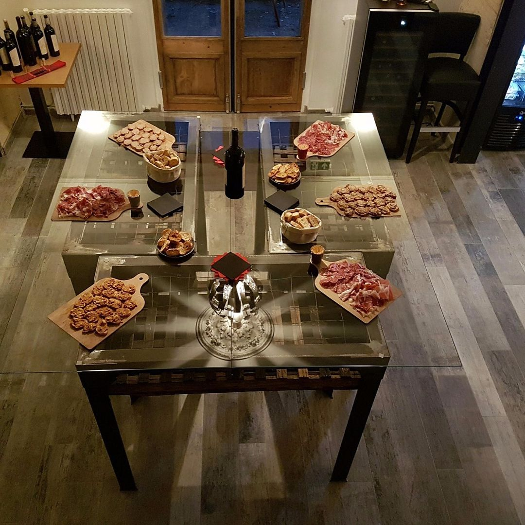 ? Stylish wood ceramics ?  Get inspired by this rustic style cellar floor designed with our #Cava series in Pomerol, France.  ??Proyect: Cellar floor  ??Country: Pomerol, France  ??Product: Cava 14,5x120 cm. + 19,5x120 cm.  .  .  .  #grespaniaceramica�#gr
