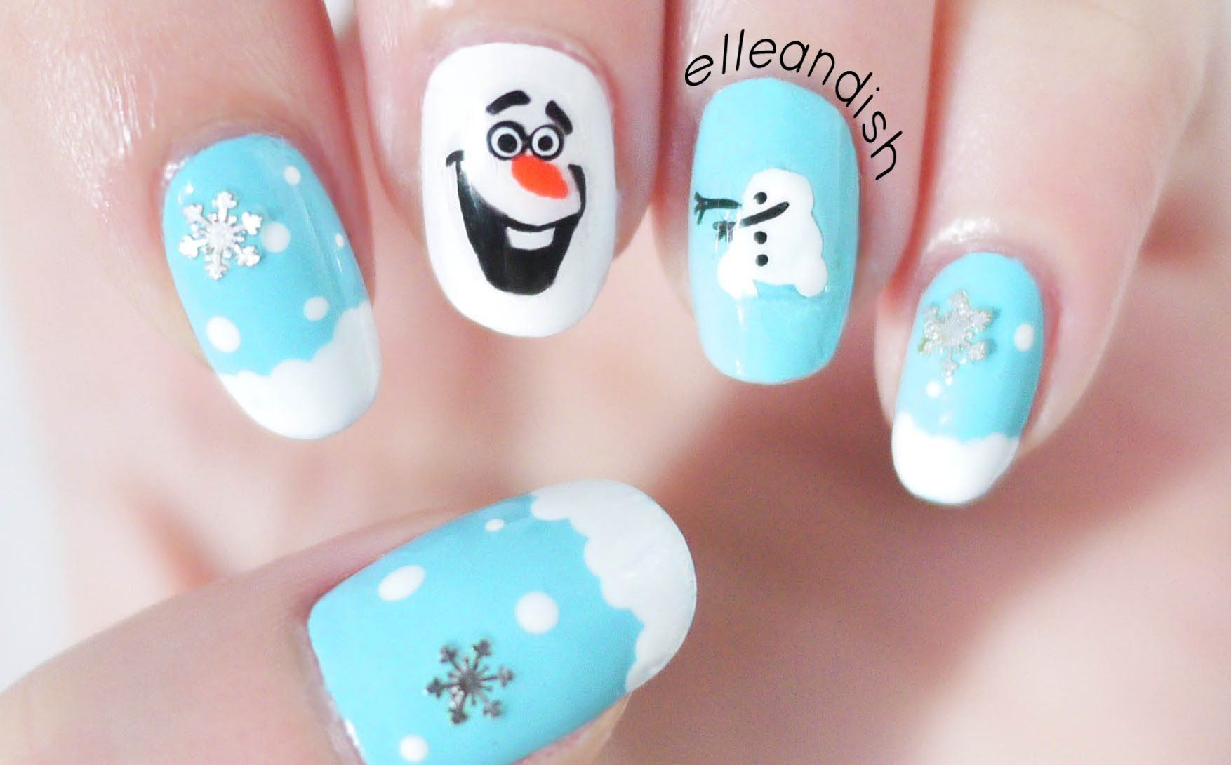 ❄ DIY Olaf Nail Stickers with a SANDWICH BAG! + GIVEAWAY #3 (ENDED ...