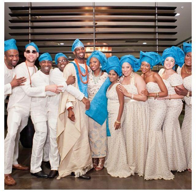 Nigerian Wedding Bridesmaids: Nigerian Wedding Bride Groom Bridesmaids ....love The