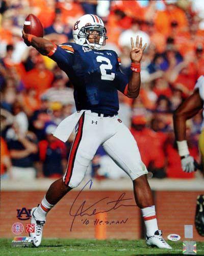 "Cam Newton Autographed 16x20 Photo Auburn Tigers """"'10 Heisman"""" PSA/DNA RookieGraph!"