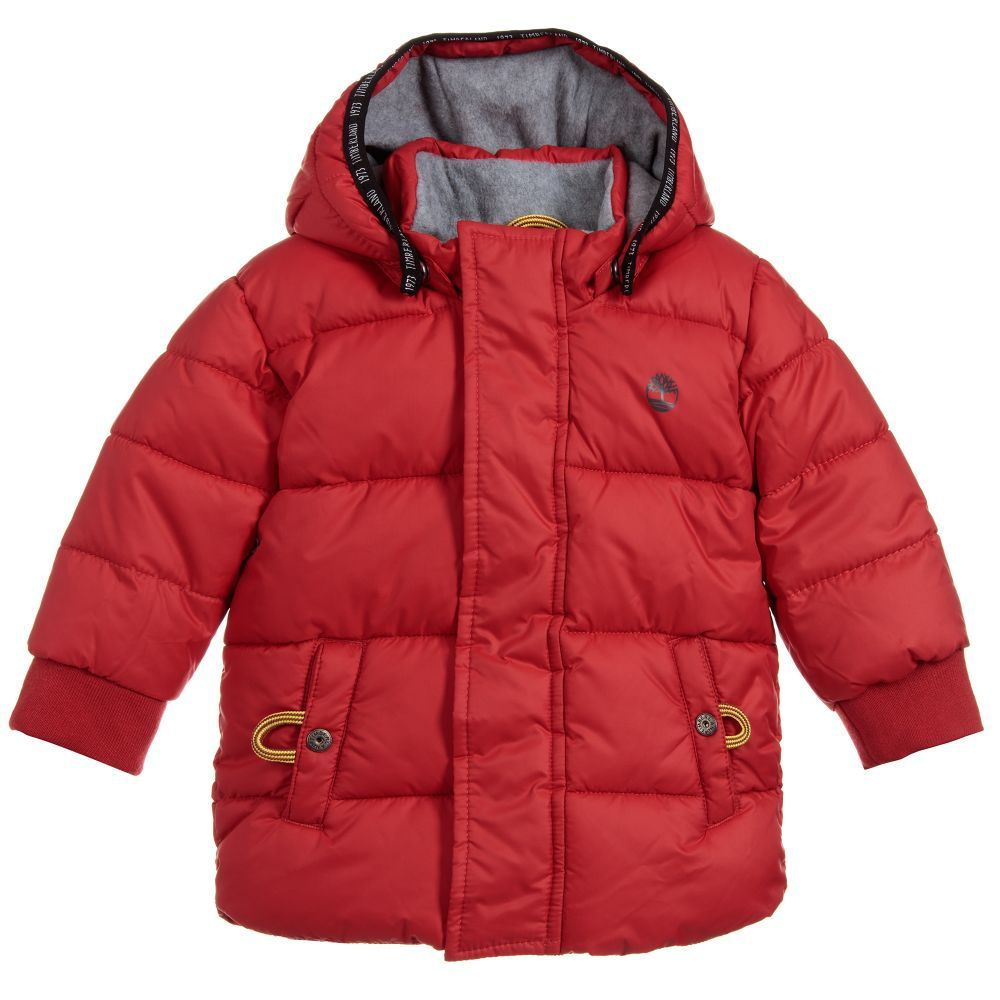 bf0113429 Boys Hooded Puffer Coat for Boy by Timberland. Discover the latest designer  Coats & Jackets for kids online